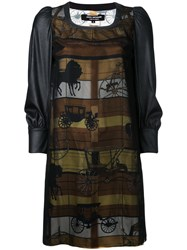 Comme Des Garcons Junya Watanabe Horse Carriage Panel Dress Women Polyester S Black