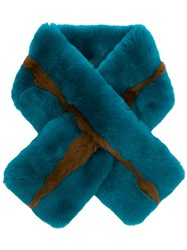 P.A.R.O.S.H. Rabbit Fur Collar Blue