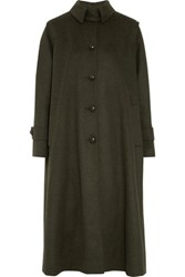 Stella Jean Wool And Alpaca Blend Coat Army Green