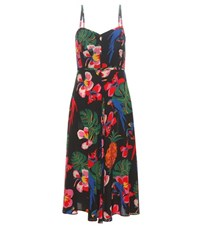 Valentino Printed Silk Dress Multicoloured