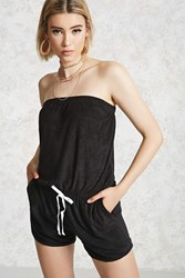 Forever 21 Strapless Terry Knit Romper