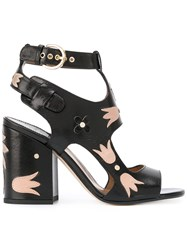 Laurence Dacade Cut Out Chunky Sandals Black