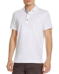 Robert Graham Stoked Stripe Placket Slim Fit Polo Shirt 100 Bloomingdale's Exclusive White