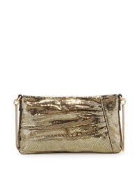 Milly Kendra Pleated Crossbody Bag Gold