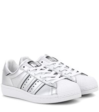 Adidas Superstar Boost Metallic Faux Leather Sneakers Silver