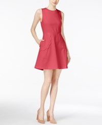 Maison Jules Scalloped Fit And Flare Dress Only At Macy's Rouge Red
