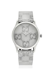 Gucci 38Mm G Timeless Gg Watch White