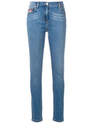 Kenzo Bamboo Tiger Skinny Jeans Blue