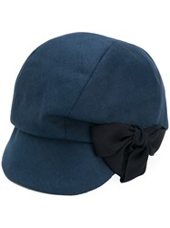 Ca4la Bow Detail Cap Blue