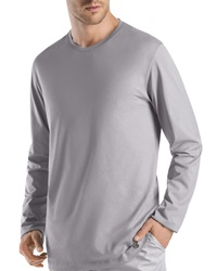 Hanro Night And Day Long Sleeve Shirt Gray