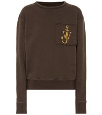 J.W.Anderson Embroidered Cotton Sweatshirt Green