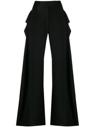 Ann Demeulemeester Extra Long Palazzo Trousers Black
