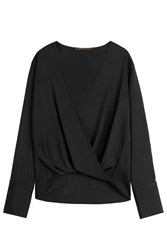 Agnona Draped Top Black