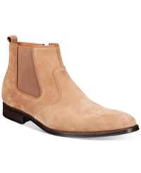 Bar Iii Men's Carson Suede Chelsea Boots Only At Macy's Men's Shoes Dark Tan