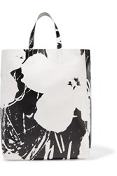 Calvin Klein 205W39nyc Andy Warhol Foundation Printed Leather Tote White