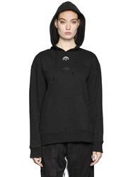 Adidas Originals By Alexander Wang Aw Logo Cotton Hooded Sweatshirt