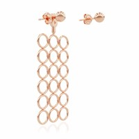 Smith Grey Circle Array Earring Rose Gold