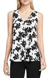 Vince Camuto Women's Drape Front Blouse New Ivory Fresco Blooms