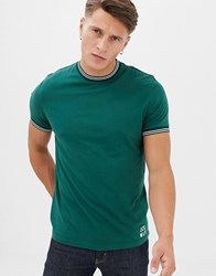 Jack Wills Rousting Twin Tipped T Shirt In Green