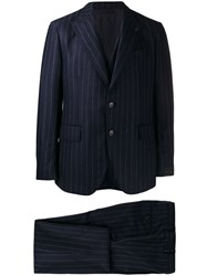 Gabriele Pasini Striped Two Piece Suit Blue