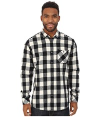 Quiksilver Motherfly Flannel Woven Top Motherfly Anthracite Men's Long Sleeve Button Up Multi