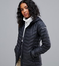 Columbia Powder Lite Hooded Jacket In Black 10 Black