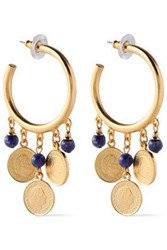 Ben Amun Woman 24 Karat Gold Plated Stone Earrings Gold