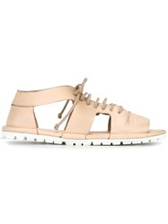 Marsell Open Toe Cut Out Sandals Nude Neutrals
