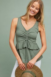 Maeve Catherine Ruched Tank Green