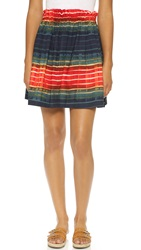 Suno Elastic Waist Circle Skirt Ombre Stripes
