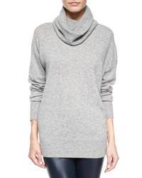 The Row Superfine Cashmere Blend Slouchy Turtleneck Sweater