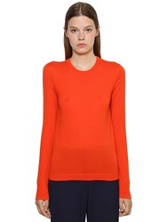 Ralph Lauren Pure Cashmere Knit Crewneck Sweater Orange