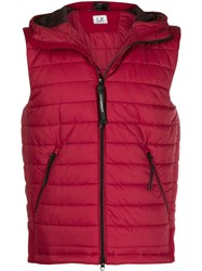 C.P. Company Cp Hooded Padded Vest Red