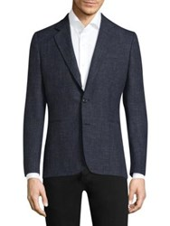 Paul Smith Wool And Linen Sportcoat Navy