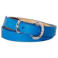 Karen Millen O Ringer Skinny Leather Belt Blue