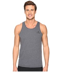 Adidas Ultimate Tank Top Dark Grey Heather Men's Sleeveless Gray
