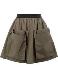 Maison Rabih Kayrouz Patch Pocket Skirt Green