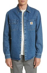 Carhartt Men's Work In Progress Salinac Shirt Jacket Blue