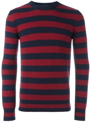 Saint Laurent Striped Classic Sweater Red