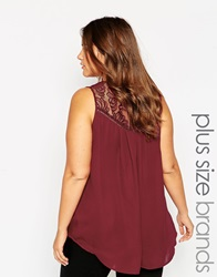 New Look Inspire Cami With Back Detail Burgundy