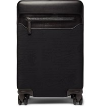 Berluti Formula 1004 Scritto Nylon And Leather Carry On Suitcase Black