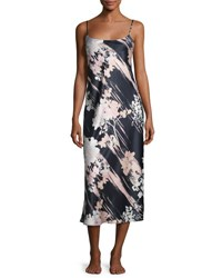 Natori Layla Long Satin Nightgown Black