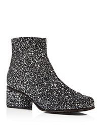 Marc Jacobs Camilla Glitter Ankle Booties Silver Multi