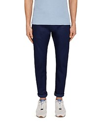 Ted Baker Dobbz Printed Straight Fit Jeans In Blue