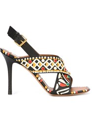 Valentino Garavani Hand Painted Sandals Black