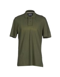Vintage 55 Topwear Polo Shirts Men Military Green