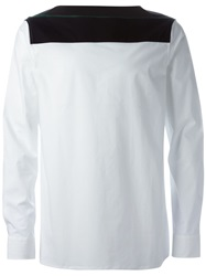 Raf Simons Long Sleeve Buttonless Shirt White
