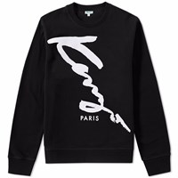 Kenzo Script Paris Crew Sweat Black