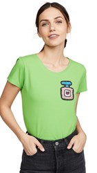Michaela Buerger Perfume Bottle Tee Lime Green