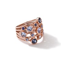 Ippolita 18K Rose Gold Rock Candy Constellation Ring In Blue Sapphire Pink